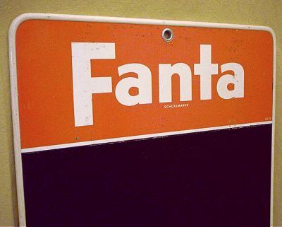 fanta werbetafel als memoboard