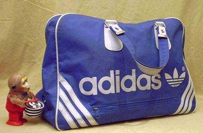 ADIDAS Tasche blaue Sporttasche der 80er Jahre