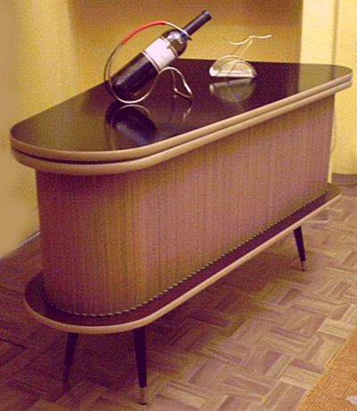k barschrank nierentisch 50s 400 461. Black Bedroom Furniture Sets. Home Design Ideas