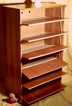 schuhschr nke der 60er. Black Bedroom Furniture Sets. Home Design Ideas