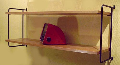 omnia eiche regalsystem der 60er. Black Bedroom Furniture Sets. Home Design Ideas