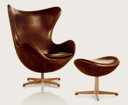 egg chair von arne jacobsen f r fritz hansen. Black Bedroom Furniture Sets. Home Design Ideas