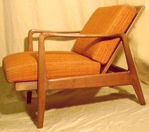 orangefarbene sessel im d nischen design. Black Bedroom Furniture Sets. Home Design Ideas