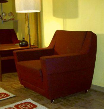 rote clubgarnitur der 60er jahre. Black Bedroom Furniture Sets. Home Design Ideas