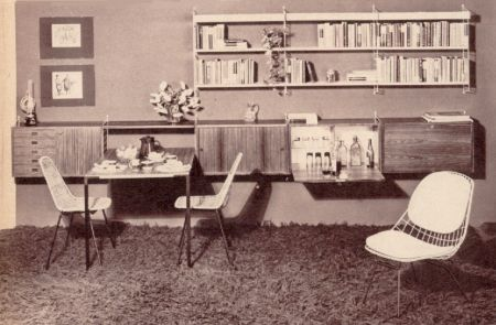 Wand regalsysteme der 60er for Wohnzimmer 60er 70er