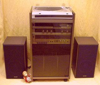 sharp 155 h stereoanlage. Black Bedroom Furniture Sets. Home Design Ideas