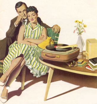 kofferplattenspieler der 50er 60er jahre. Black Bedroom Furniture Sets. Home Design Ideas